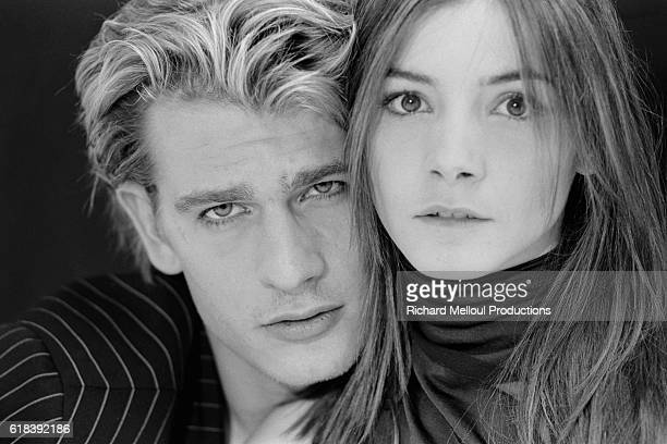 French Actors Guillaume Depardieu and Clotilde Courau