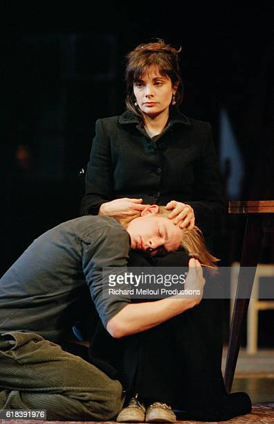 French Actors Guillaume Depardieu and Marie Trintignant in Le Retour d'Harold Pinter