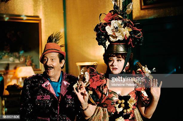 French actors Jean Rochefort as Eddie Carpentier and Catherine Jacob as Carla Milo in the 1996 French motion picture Les Grand Ducs directed by...