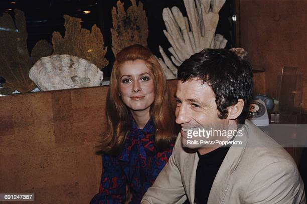 French actors JeanPaul Belmondo and Catherine Deneuve pictured together during production of the film 'Mississippi Mermaid' in December 1968