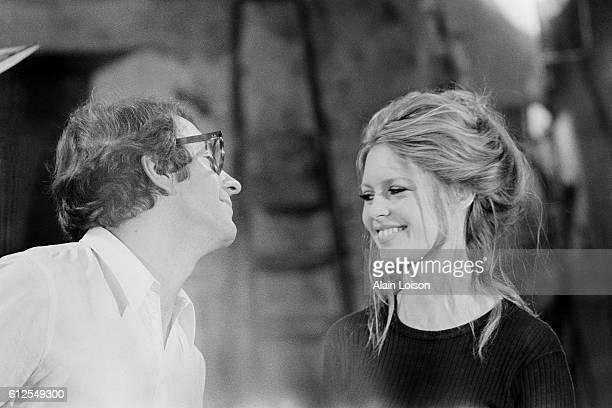 French actors JeanPierre Cassel and Brigitte Bardot on the set of L'Ours et la Poupee written and directed by Michel Deville