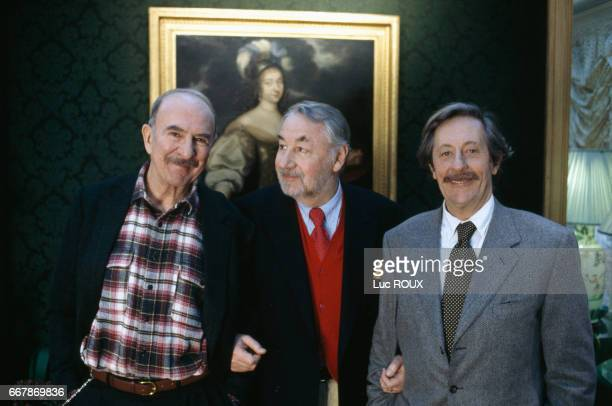 French actors JeanPierre Marielle Philippe Noiret and Jean Rochefort