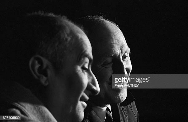 French Actors Louis De Funes and Bourvil