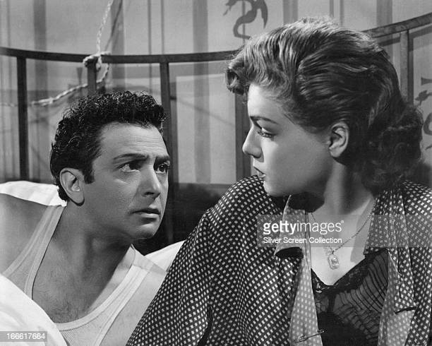 French actors Marcel Dalio and Simone Signoret in 'Dedee d'Anvers' directed by Yves Allegret 1948