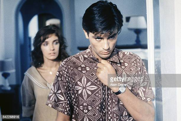 French actors Marie Laforêt and Alain Delon on the set of Plein Soleil, based on the novel by Patricia Highsmith and directed by René Clément.