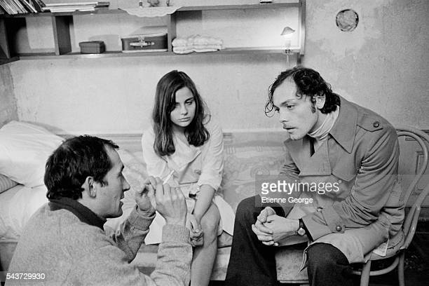 French actors Marie Trintignant and Patrick Dewaere on the set of the film Serie Noire directed by Alain Corneau and based on American writer Jim...
