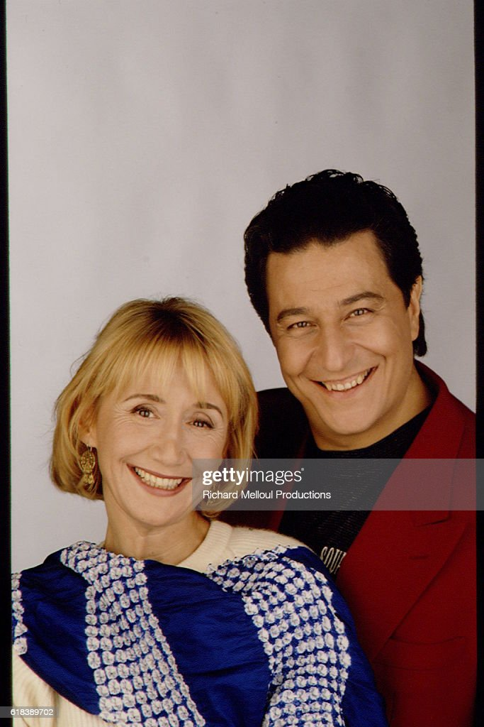 French Actors Marie-Anne Chazel and Christian Clavier : Photo d'actualité
