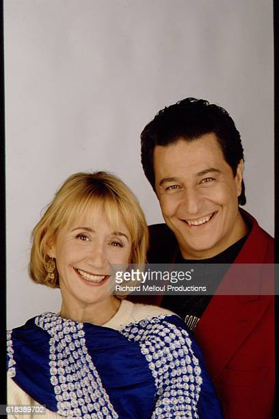 French Actors MarieAnne Chazel and Christian Clavier
