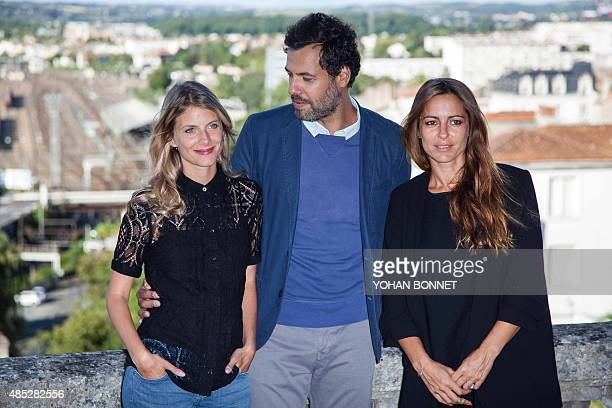 French actors Melanie Laurent Laurent Lafitte and Audrey Dana pose during a photocall for the film Boomerang as part of the Francophone Film Festival...