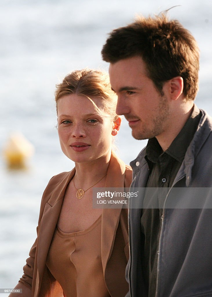 French actors Melanie Thierry and Gregoire Leprince-Ringuet attend the Canal+ TV show 'Le Grand Journal' at the 63rd Cannes Film Festival on May 17, 2010 in Cannes.
