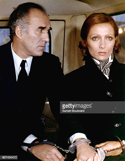 French actors Michel Piccoli and Stephane Audran on the set of Les noces rouges written and directed by Claude Chabrol