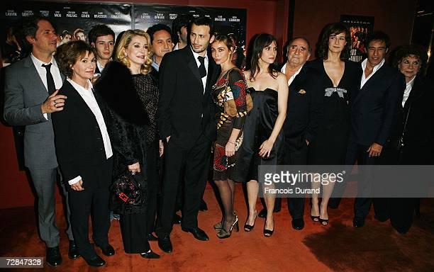French actors MiouMiou Catherine Deneuve Michael Cohen Emmanuelle Beart Geraldine Pailhas Claude Brasseur Valerie Lemercier Gerard Lanvin and Claire...