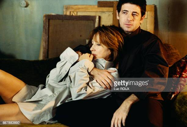 French actors Nathalie Baye and Patrick Bruel on the set of the film Une vie a t'attendre written and directed by Thierry Klifa