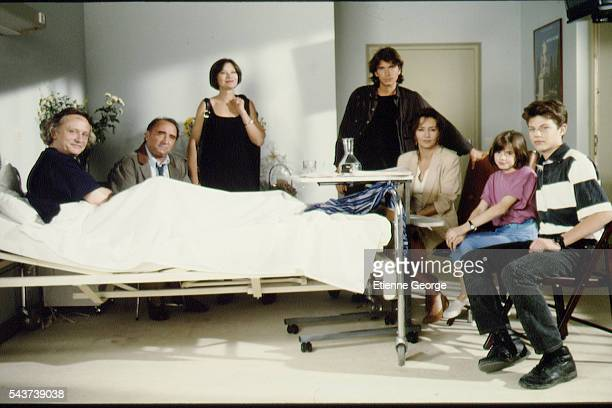 French actors Niels Arestrup Claude Brasseur Macha Meril English actor Christopher Thompson Caroline Cellier a little girl and Mathieu Crépeau on the...