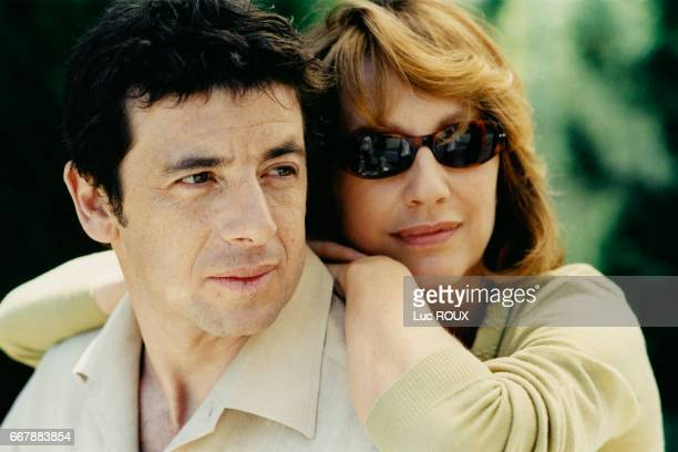 French actors Patrick Bruel and Nathalie Baye on the set of the film Une vie a t'attendre written and directed by Thierry Klifa