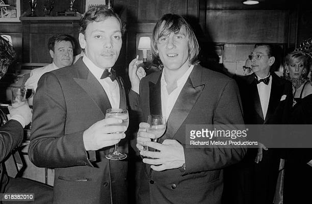 French actors Patrick Dewaere and Gerard Depardieu celebrate in a crowded bar on the seventh night of the Cesar Awards The Cesar Awards are the...