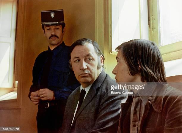 "French actors Philippe Noiret and Sylvain Rougerie on the set of ""L'Horloger de Saint-Paul"" , directed by Bertrand Tavernier, who won the 1974 Silver..."