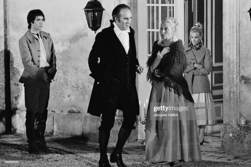 French actors Pierre Clementi, Michel Piccoli and Michele Morgan on the set of the film Benjamin ou Les mÌÄå©moires d'un puceau, written and directed by Michel Deville.
