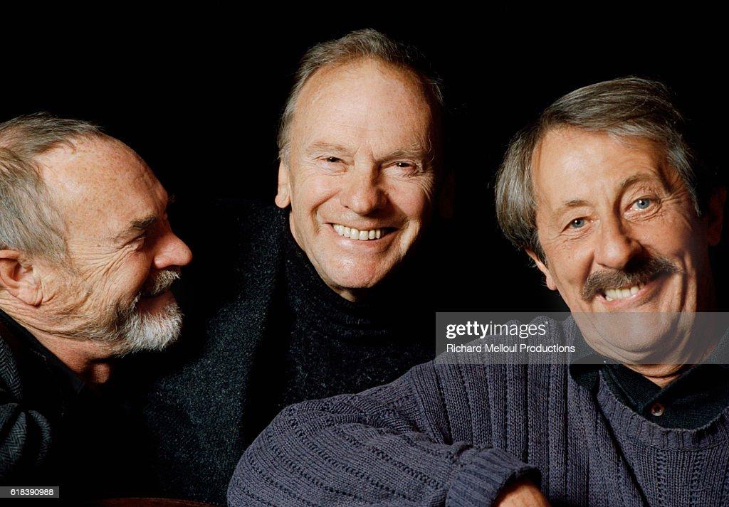 Pierre Vaneck, Jean-Louis Trintignant, and Jean Rochefort : Photo d'actualité