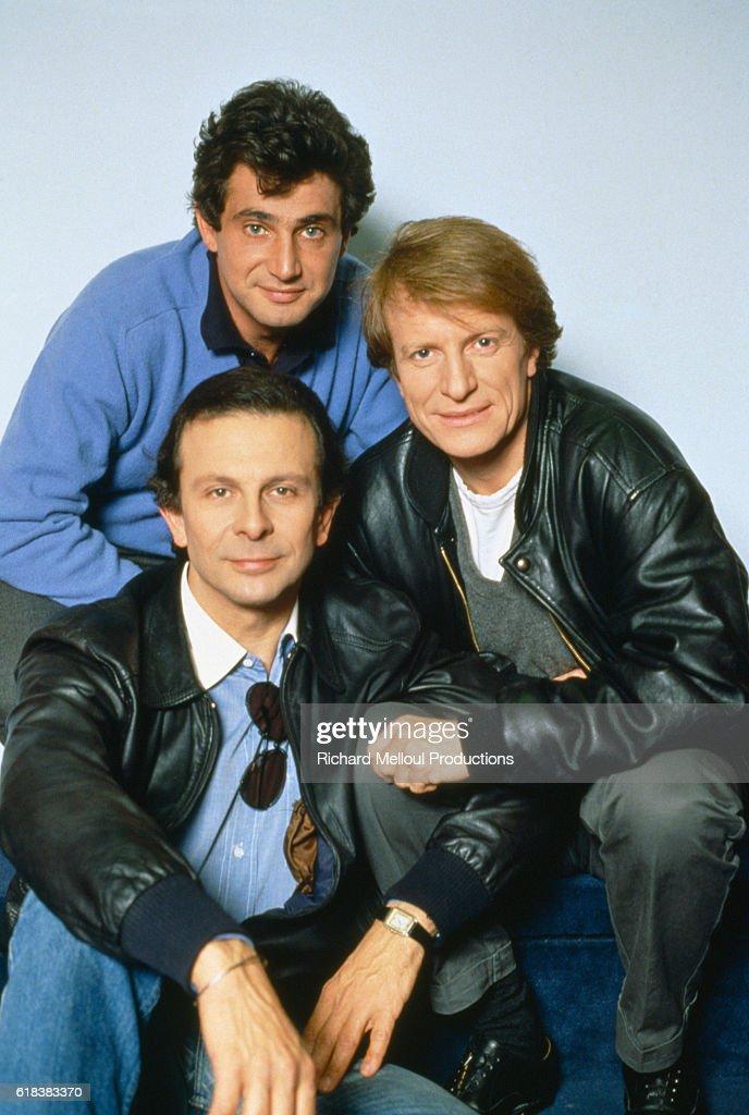 French Stars of Trois Hommes et un Couffin : Photo d'actualité