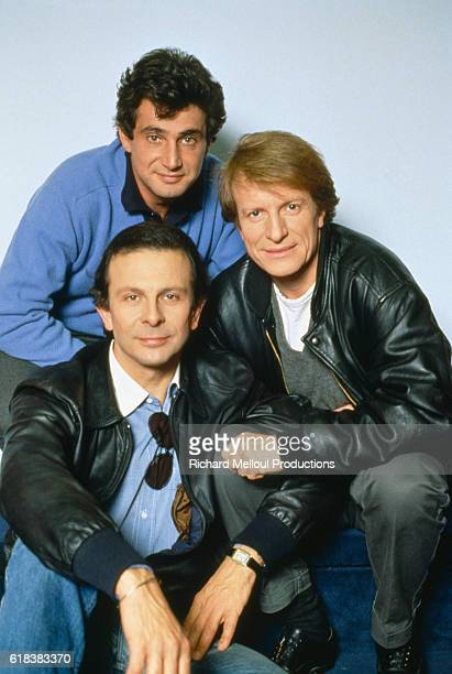 French actors Roland Giraud, Michel Boujenah, and Andre Dussollier star in the 1985 French film Trois Hommes et un Couffin by French director Coline...