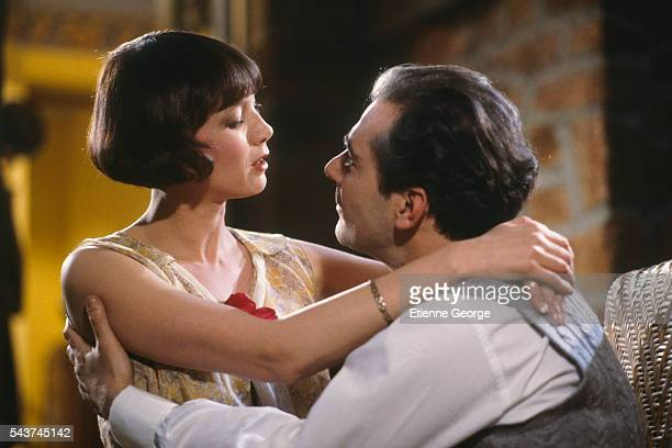 French actors Sabine Azéma and Pierre Arditi on the set of Melo directed by Alain Resnais based on the Henri Bernstein play Sabine Azéma won the 1987...