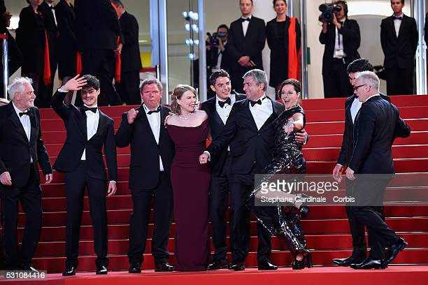 French actors Sebastien Novac Laure Calamy French director Alain Guiraudie Damien Bonnar India Hair Raphael Thiery Basile Meilleurat and Christian...