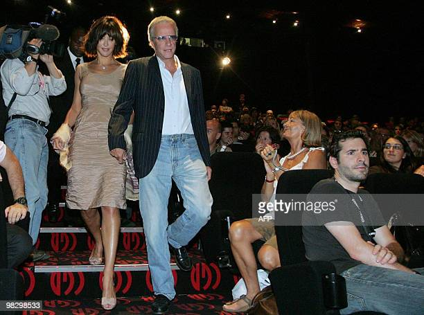 French actors Sophie Marceau and Christophe Lambert arrive to the presentation of Alain Monne's movie L'homme de Chevet during the second edition of...