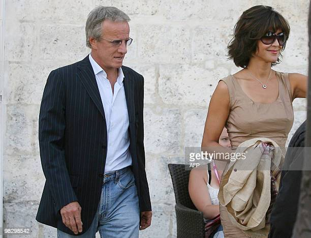 French actors Sophie Marceau and Christophe Lambert arrive to the presentation of Alain Monne's last movie L'homme de Chevet during the second...
