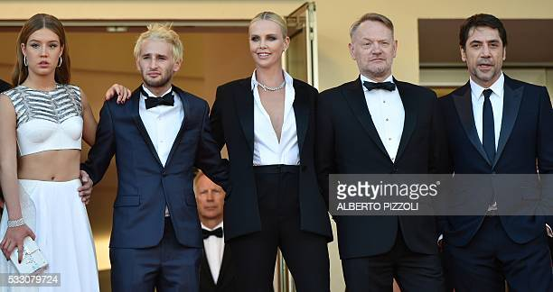 French actress Adele Exarchopoulos Sean Penn's son Hopper Jack Penn South AfricanUS actress Charlize Theron British actor Jared Harris and Spanish...