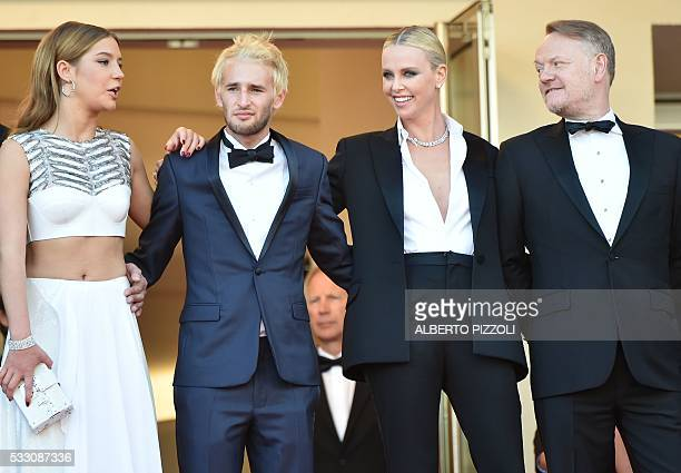 French actress Adele Exarchopoulos US actor and director Sean Penn's son Hopper Jack Penn South AfricanUS actress Charlize Theron and British actor...