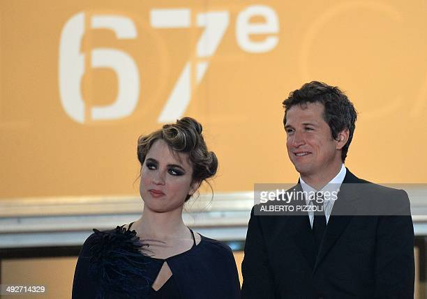 French actress Adele Haenel and actor Guillaume Canet pose as they arrive for the screening of the film L'Homme qu'on Aimait Trop at the 67th edition...