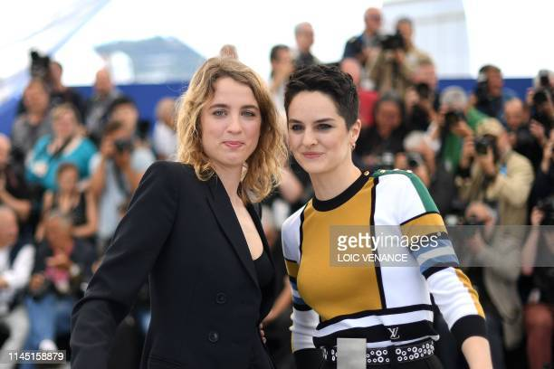 French actress Adele Haenel and French actress Noemie Merlant pose during a photocall for the film Portrait Of A Lady On Fire at the 72nd edition of...