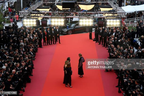 French actress Adele Haenel and French film producer Benedicte Couvreur Italian actress and film director Valeria Golino French actress Noemie...