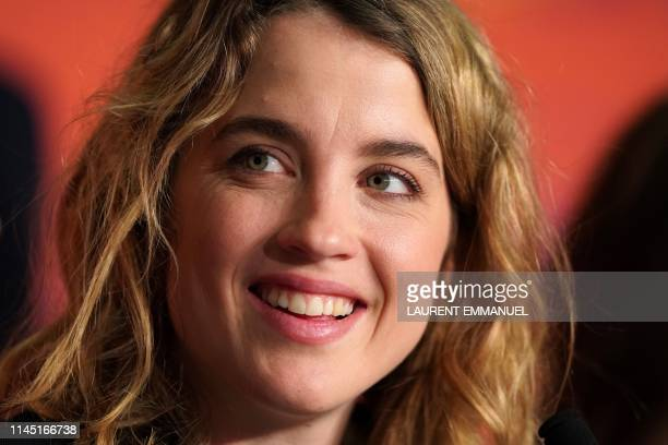 French actress Adele Haenel attends a press conference for the film Portrait Of A Lady On Fire at the 72nd edition of the Cannes Film Festival in...
