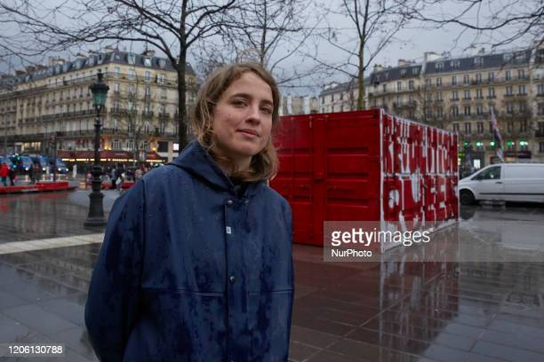 French actress Adele Haenel during the International Women s Rights Day in Paris, France, on March 8, 2020