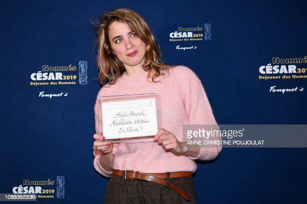 French actress Adele Haenel poses as she arrives for the 2019 Cesar Nominees Lunch on February 3 2019 in Paris