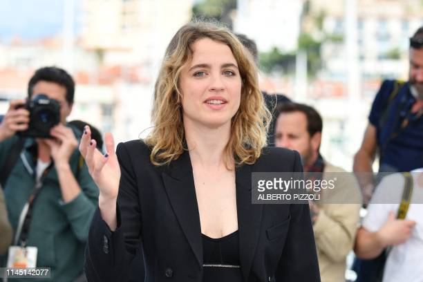 French actress Adele Haenel poses during a photocall for the film Portrait Of A Lady On Fire at the 72nd edition of the Cannes Film Festival in...