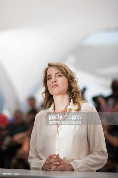 French actress Adele Haenel poses during a photocall for the film L'Homme qu'on Aimait Trop at the 67th edition of the Cannes Film Festival in Cannes...
