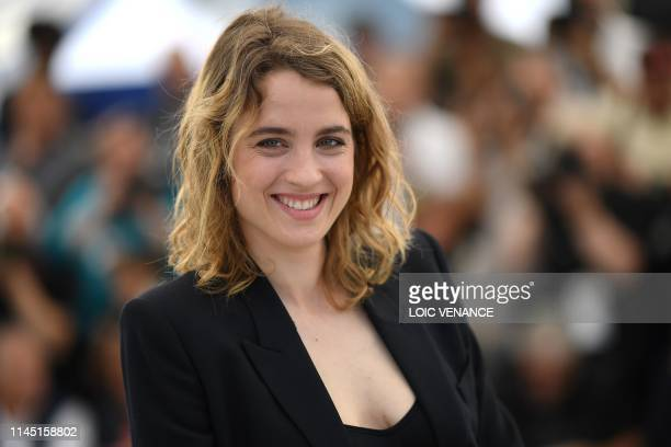 French actress Adele Haenel smiles during a photocall for the film Portrait Of A Lady On Fire at the 72nd edition of the Cannes Film Festival in...