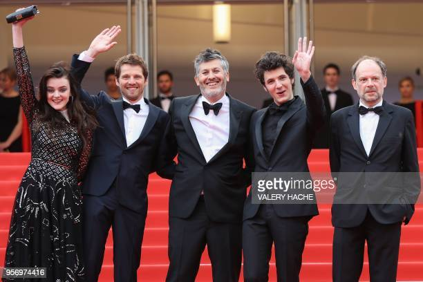 French actress Adele Wismes French actor Pierre Deladonchamps French director Christophe Honore French actor Vincent Lacoste and French actor Denis...
