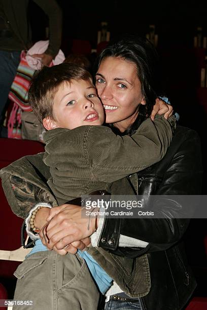 French actress Adeline Blondieau and her son Aitor.