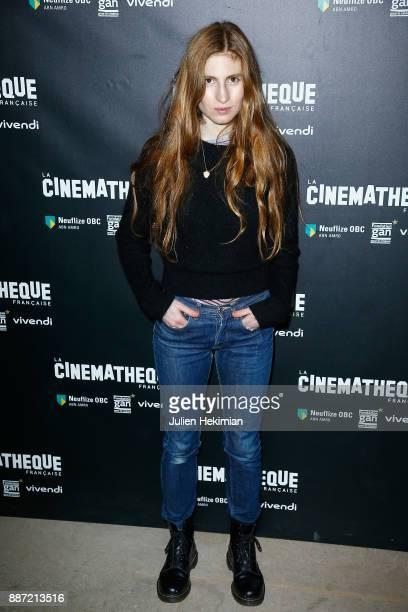 French actress Agathe Bonitzer attends 'Soleil Battant' Paris Premiere at Cinematheque Francaise on December 6 2017 in Paris France
