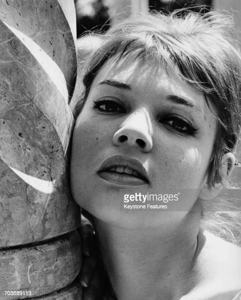 French actress Agnès Laurent in Cannes during the film festival, May 1959.