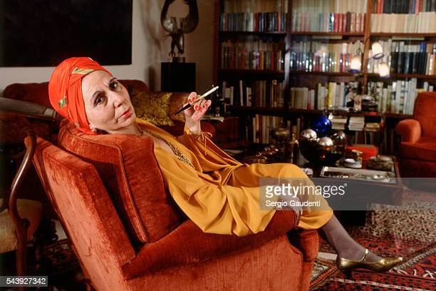 French actress Alice Sapritch at home