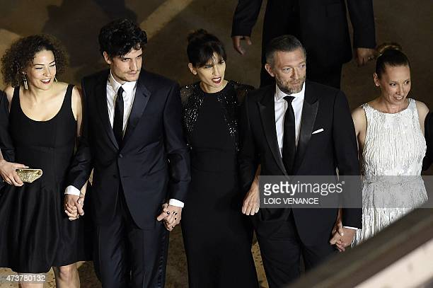 French actress Amanda Added, French actor Louis Garrel, French actress and director Maiwenn, French actor Vincent Cassel and French actress...