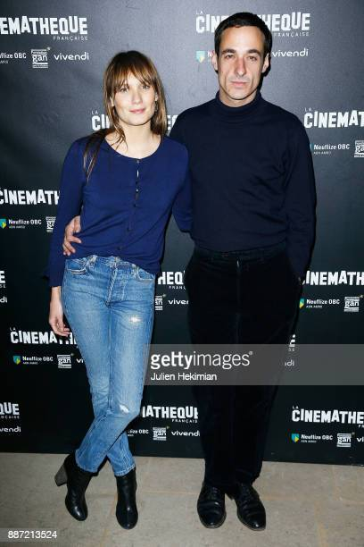 French actress Ana Girardot and French actor Clement Roussier attend Soleil Battant Paris Premiere at Cinematheque Francaise on December 6 2017 in...