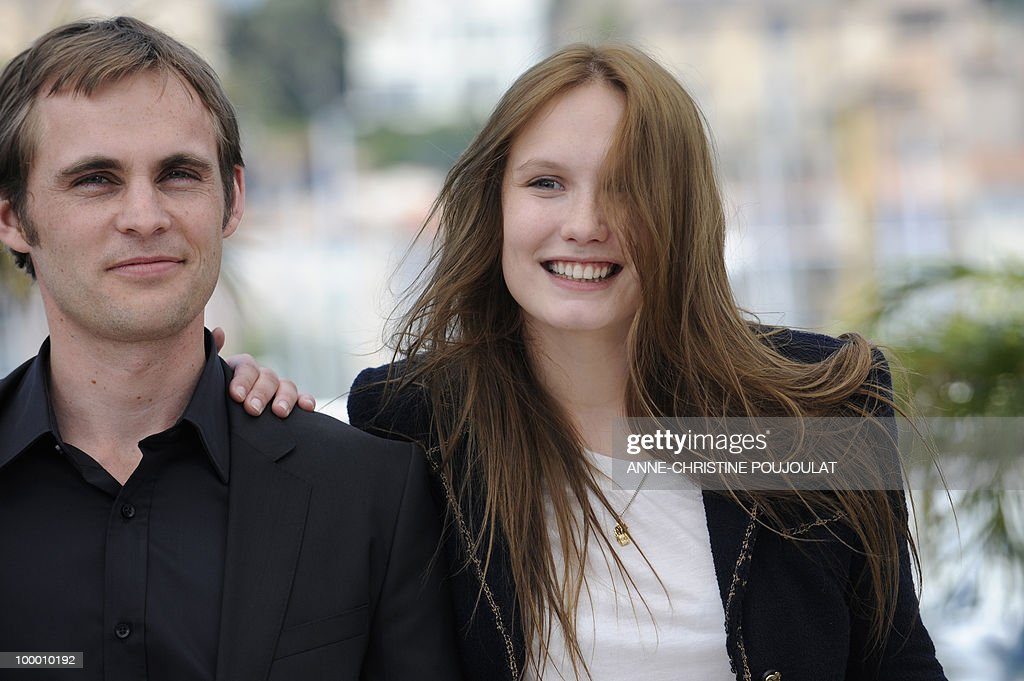French actress Ana Girardot and French director Fabrice Gobert pose during the photocall 'Simon Werner a Disparu' (Lights Out) presented in the Un Certain Regard selection at the 63rd Cannes Film Festival on May 20, 2010 in Cannes.