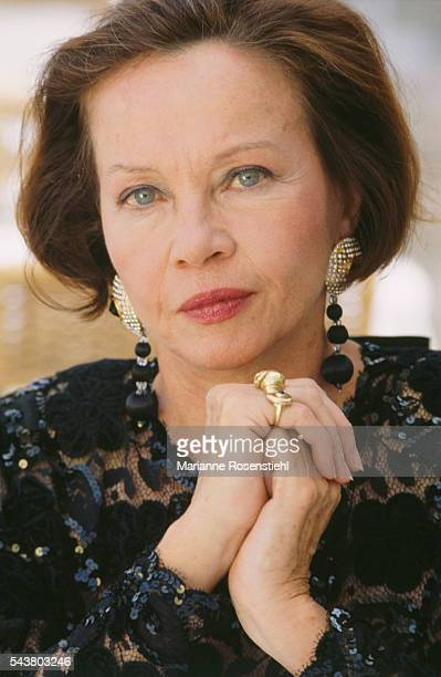 French actress and dancer Leslie Caron at her recently opened inn 'La Lucarne aux Chouettes' in Vielleurbanne.