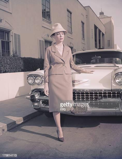 French actress and dancer Leslie Caron, circa 1955.